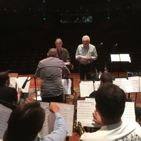 """onstage with Bill Cunliffe and Carl """"Doc"""" Severinsen"""