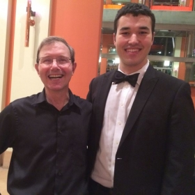 """With Rob Kapilow after a """"What Makes it Great?"""" concert"""