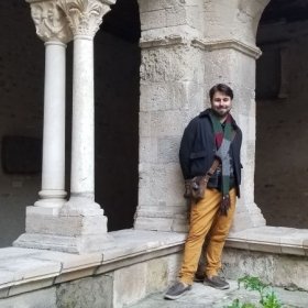 In the cloister of the abbey of Vienne.