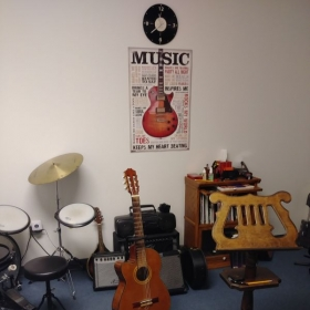 My Music Studio where I give my lessons located at  
