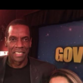 "NY METS DWIGHT GOODEN and vocal student ,  ""Reeanna G"", BROADWAY show ""Batboy"""