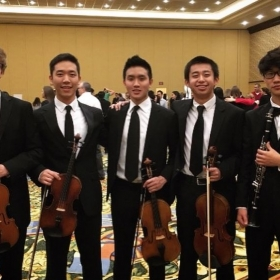 Performing with the National Association for Music Education's (NAfME's) All-National Honor Symphony Orchestra in Grapevine, Texas in 2016.
