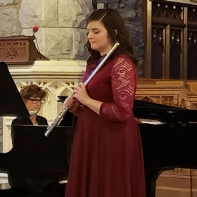 performing at my Master's degree recital with accompanist Diane Yazvac, May 2019.