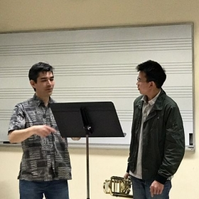 Lesson with Nathan Tanouye, my trombone professor at the University of Nevada, Las Vegas.