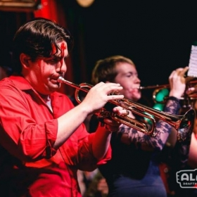 This is the holiday party that I played with the un-dead brass band that I play in.