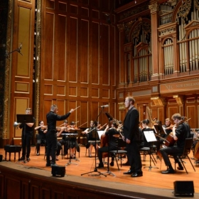 Conducting in NEC's Jordan Hall