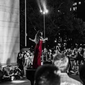A performance I did in Washington Square Park with Opera Under the Arch
