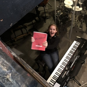"Playing in the pit for ""White Christmas."""