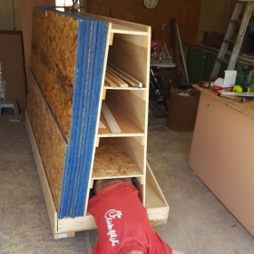 Another lumber storage cart that I built (no drawers in this one) with one of my sons.