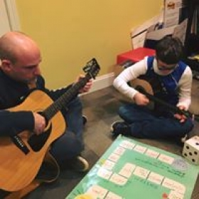Working on communication, academics and guitar playing skills, Yes!