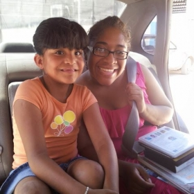 My first student! Taught her some LSM (Mexican Sign Language) through a study of the Bible.
