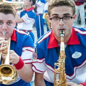 Performing in Disneyland with the All American College Band.