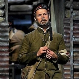 Troy Cook as Father Palmer in the world premier of Silent Night at Minnesota Opera