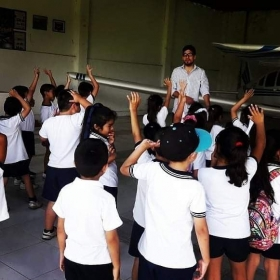 I love working with kids, they have so much energy and passion, they are amazing!