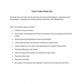 Here's a free copy of an eBook I wrote that compiles some materials I have used in my lessons. May it serve you well.