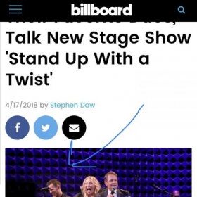 "Write up in Billboard on the Sold Out show I did singing back-up for Kristine W & Carson Kressley of ""Queer Eye"" and Ru Pal's Drag Race."
