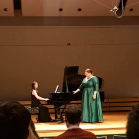 A moment from one of my favorite songs on my senior recital