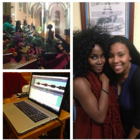 Sang background vocals for Chanel, from the Award-winning Trin-i-Tee 5:7 girl group, at a NYE concert.