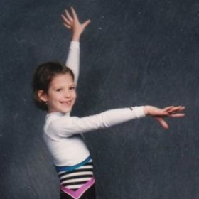 Most of my sister's first memories of me are in a leotard!