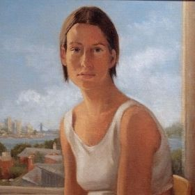 "Katrinka at a Window   Oil/Canvas   12"" X 16"""