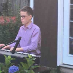 The annual outdoor cafe recital