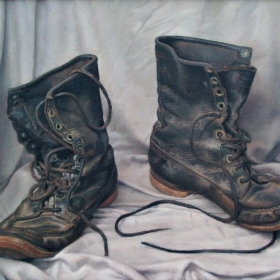 The Old Boots, Oil on Canvas
