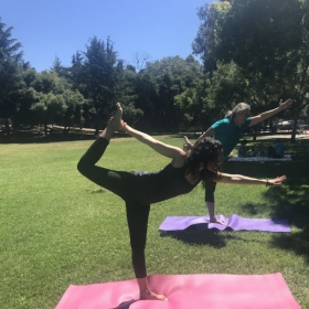 One-On-One Yoga in the park.