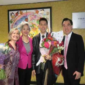 Post Wenting's recital, With Huang Ping, Consul General Of The People's Republic of China in New York and his wife Zhang Aiping