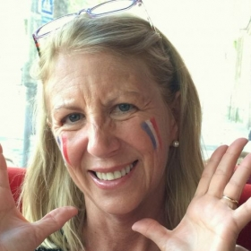 Always the French fan: Allez les bleus!