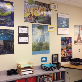 Our own little art museum in my classroom...