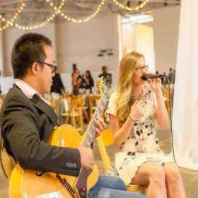 Performing with Amie Erwin.