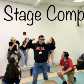 Theatre High School Students learning the art of Stage Composition