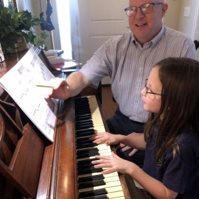 Siobhan - A second grade beginning student.  She is working on fingering and understanding the movement of notes.