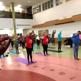 Trinity United Church of Christ - Fitness Day which started with my yoga class.