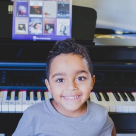 my youngest son is excited to take music lessons with me :)