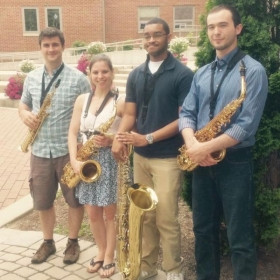 Playing soprano with a quartet at Baldwin Wallace University