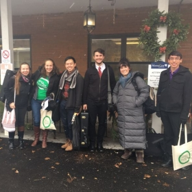 Presenting a holiday program for patients at ManorCare rehab facility in Pittsburgh through Sing for Hope and Carnegie Mellon University.