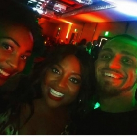 Nova Star Dance Company Owners Kay and Gary Nelson ( Far Left & Far Right) at NABA Convention with TV Star Sherrie Sheperd  ( Center)