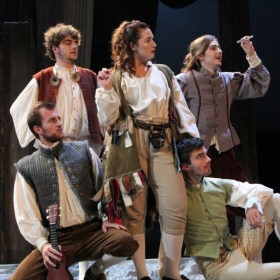 Production photo from Rosencrantz and Guildenstern are Dead
