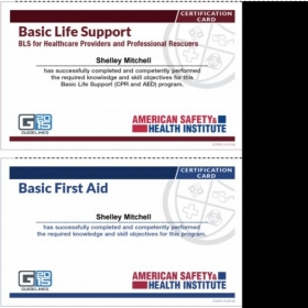 BASIC LIFE SUPPORT ( CPR and AED ) Certification Card