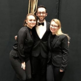 Pictured with colleagues, Stephanie Dressler and Connor Lane — also TakeLessons teachers!