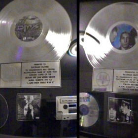 Platinum records, DMX & The Rolling Stones, awarded to my father in law, Richard Oliver - ROPD, Inc. Richard Oliver Productions