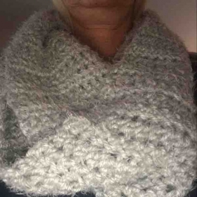 This is a scarf I made for my sister