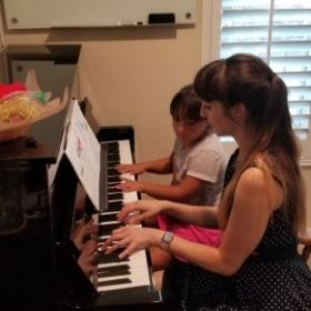 Piano Lesson with Bella!