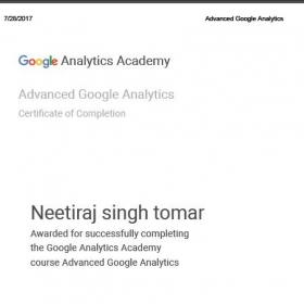 Google Analytics Advance Certification