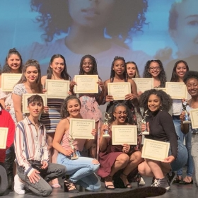 Dance Students Accepting Awards