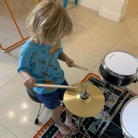 One of my Students Learning How to Control their Sticks