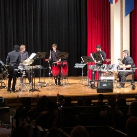 Percussion Ensemble concert that I directed - this was a hard (and fun) piece, so I decided to play it with them!