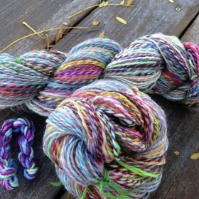 424 yards of handspun
