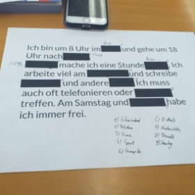 This is an excercises about verbs from German class.